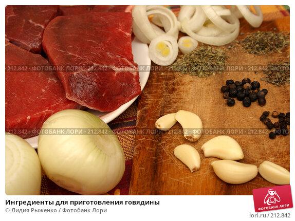 Купить «Ингредиенты для приготовления говядины», фото № 212842, снято 17 февраля 2008 г. (c) Лидия Рыженко / Фотобанк Лори