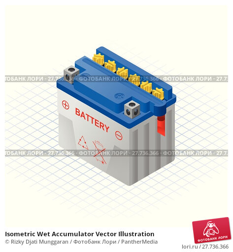 Купить «Isometric Wet Accumulator Vector Illustration», иллюстрация № 27736366 (c) PantherMedia / Фотобанк Лори
