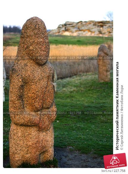 Купить «Исторический памятник Каменная могила», фото № 227758, снято 19 марта 2008 г. (c) Сергей Литвиненко / Фотобанк Лори