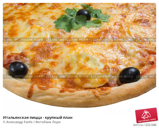Итальянская пицца - крупный план, фото № 232046, снято 23 июля 2017 г. (c) Александр Fanfo / Фотобанк Лори