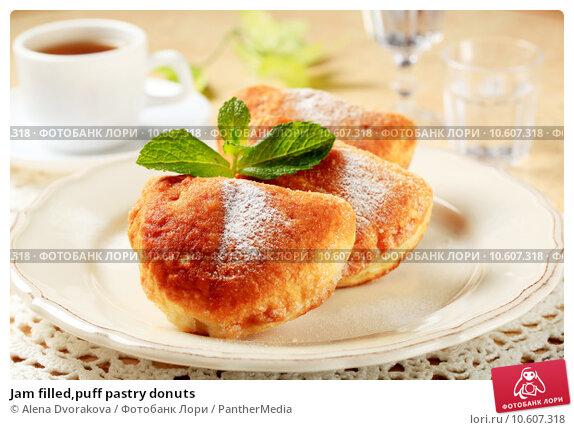 Jam filled,puff pastry donuts  . Стоковое фото, фотограф Alena Dvorakova / PantherMedia / Фотобанк Лори