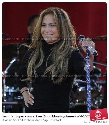 Jennifer Lopez concert on 'Good Morning America' 6-20-2014.Photo ... Редакционное фото, фотограф Adam Scull / age Fotostock / Фотобанк Лори