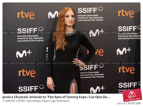 Jessica Chastain attends to 'The Eyes of Tammy Faye / Los Ojos De... Редакционное фото, фотограф NACHO LOPEZ / age Fotostock / Фотобанк Лори
