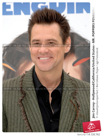 Jim Carrey - Hollywood/California/United States - MR. POPPERS PENGUINS FILM PREMIERE, фото № 14128762, снято 12 июня 2011 г. (c) age Fotostock / Фотобанк Лори