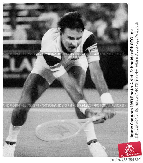 Jimmy Connors 1983 Photo ©Neil Schneider/PHOTOlink (2008 год). Редакционное фото, фотограф Photo ©Neil Schneider/PHOTOlink / age Fotostock / Фотобанк Лори