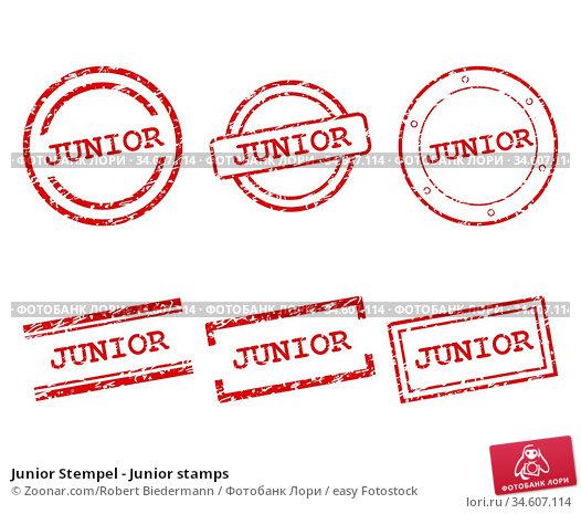 Junior Stempel - Junior stamps. Стоковое фото, фотограф Zoonar.com/Robert Biedermann / easy Fotostock / Фотобанк Лори