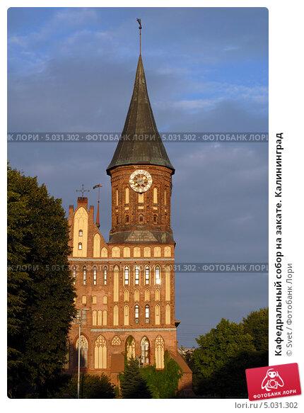 Купить «Кафедральный собор на закате. Калининград», эксклюзивное фото № 5031302, снято 28 августа 2013 г. (c) Svet / Фотобанк Лори
