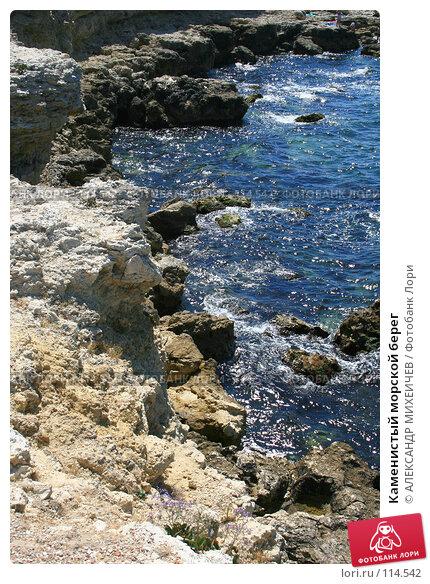 Каменистый морской берег, фото № 114542, снято 21 августа 2007 г. (c) АЛЕКСАНДР МИХЕИЧЕВ / Фотобанк Лори
