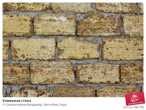 Каменная стена, фото № 242726, снято 16 июля 2007 г. (c) Саломатников Владимир / Фотобанк Лори