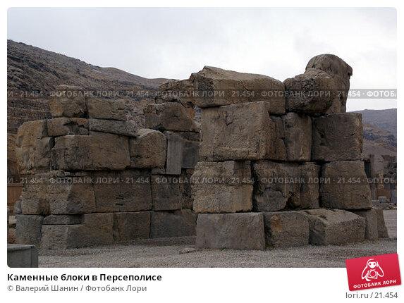 Купить «Каменные блоки в Персеполисе», фото № 21454, снято 26 ноября 2006 г. (c) Валерий Шанин / Фотобанк Лори