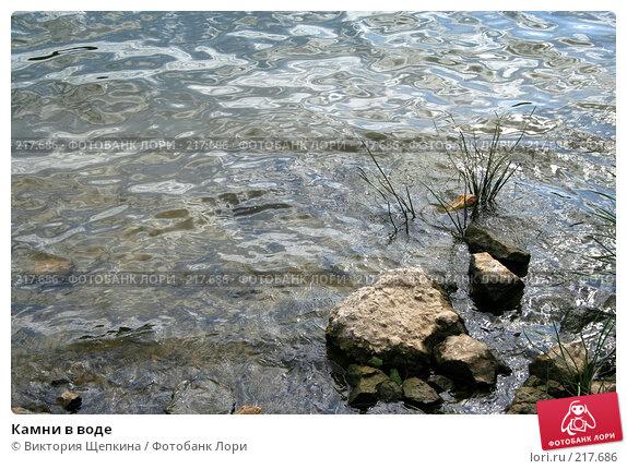 Камни в воде, фото № 217686, снято 26 августа 2007 г. (c) Виктория Щепкина / Фотобанк Лори