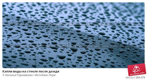 Капли воды на стекле после дождя, фото № 264374, снято 27 апреля 2008 г. (c) Наталья Герасимова / Фотобанк Лори