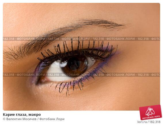 Купить «Карие глаза, макро», фото № 182318, снято 20 января 2008 г. (c) Валентин Мосичев / Фотобанк Лори