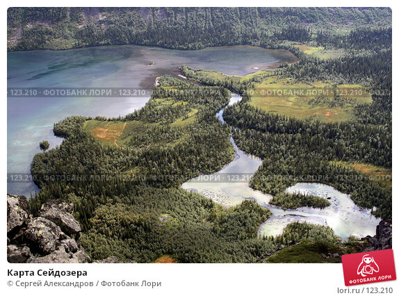 Карта Сейдозера, фото № 123210, снято 12 августа 2007 г. (c) Сергей Александров / Фотобанк Лори