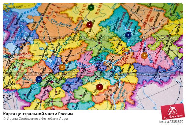 Карта центральной части России, эксклюзивное фото № 335870, снято 24 июня 2008 г. (c) Ирина Солошенко / Фотобанк Лори