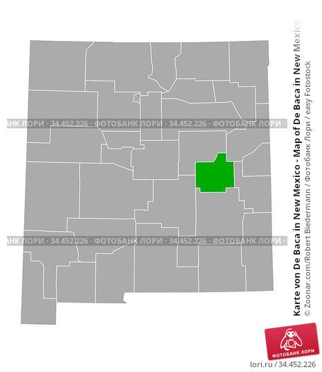 Karte von De Baca in New Mexico - Map of De Baca in New Mexico. Стоковое фото, фотограф Zoonar.com/Robert Biedermann / easy Fotostock / Фотобанк Лори