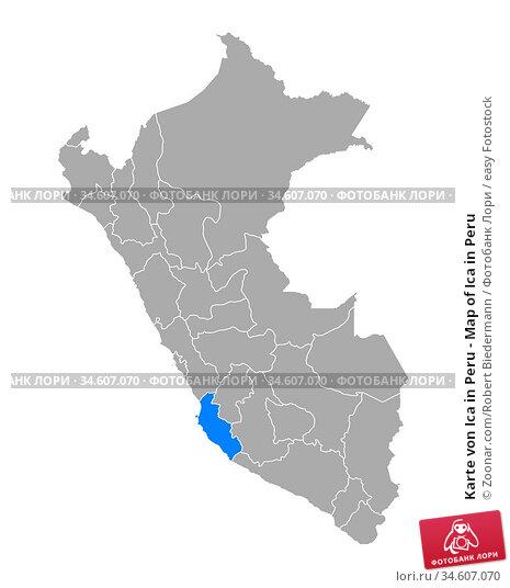 Karte von Ica in Peru - Map of Ica in Peru. Стоковое фото, фотограф Zoonar.com/Robert Biedermann / easy Fotostock / Фотобанк Лори