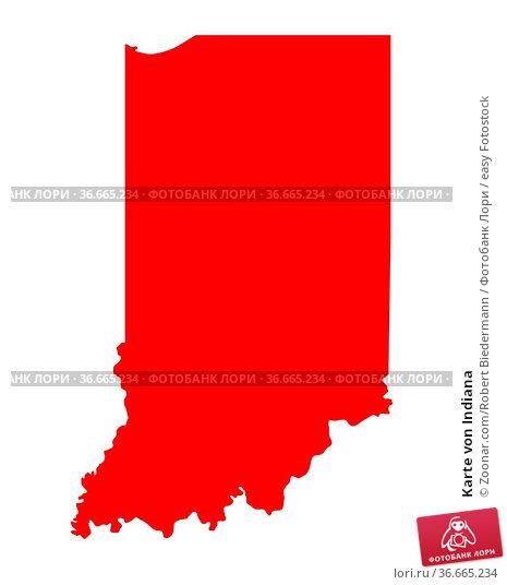 Karte von Indiana. Стоковое фото, фотограф Zoonar.com/Robert Biedermann / easy Fotostock / Фотобанк Лори
