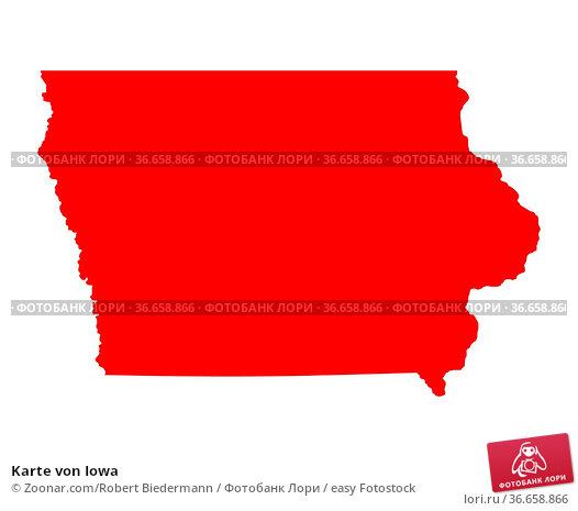Karte von Iowa. Стоковое фото, фотограф Zoonar.com/Robert Biedermann / easy Fotostock / Фотобанк Лори