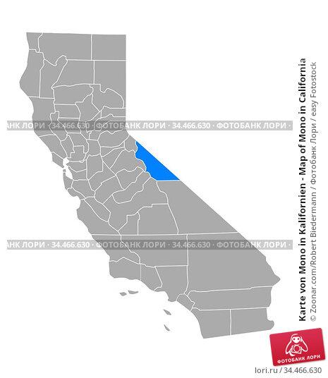 Karte von Mono in Kalifornien - Map of Mono in California. Стоковое фото, фотограф Zoonar.com/Robert Biedermann / easy Fotostock / Фотобанк Лори