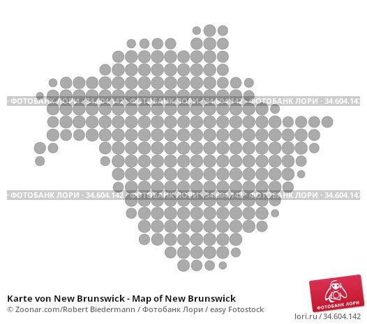 Karte von New Brunswick - Map of New Brunswick. Стоковое фото, фотограф Zoonar.com/Robert Biedermann / easy Fotostock / Фотобанк Лори