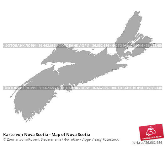 Karte von Nova Scotia - Map of Nova Scotia. Стоковое фото, фотограф Zoonar.com/Robert Biedermann / easy Fotostock / Фотобанк Лори