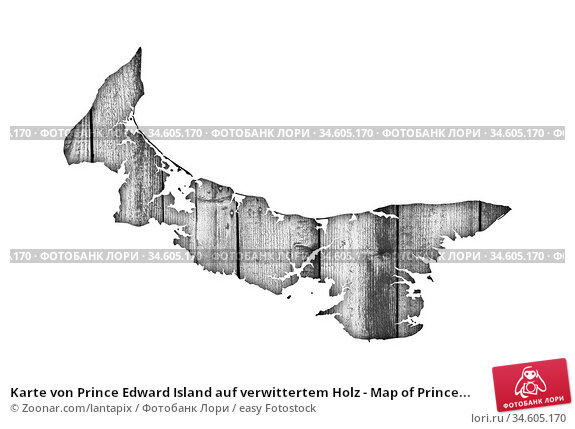 Karte von Prince Edward Island auf verwittertem Holz - Map of Prince... Стоковое фото, фотограф Zoonar.com/lantapix / easy Fotostock / Фотобанк Лори