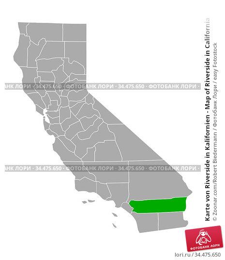 Karte von Riverside in Kalifornien - Map of Riverside in California. Стоковое фото, фотограф Zoonar.com/Robert Biedermann / easy Fotostock / Фотобанк Лори