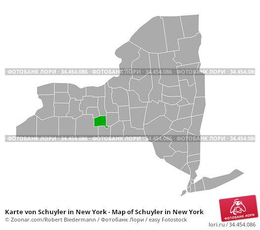 Karte von Schuyler in New York - Map of Schuyler in New York. Стоковое фото, фотограф Zoonar.com/Robert Biedermann / easy Fotostock / Фотобанк Лори