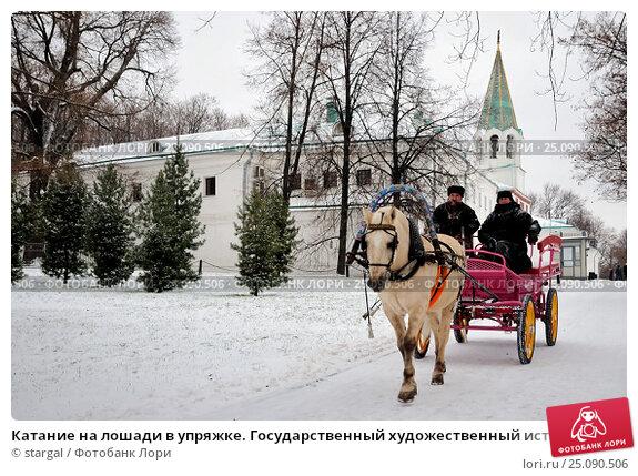 Катание на лошади в упряжке. государственный художественный .