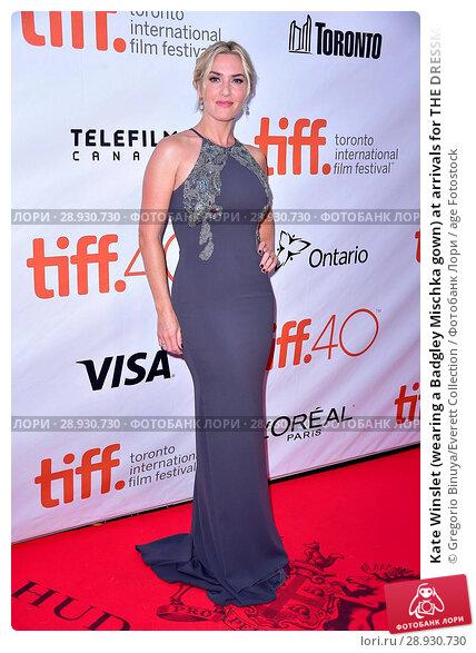 Купить «Kate Winslet (wearing a Badgley Mischka gown) at arrivals for THE DRESSMAKER Premiere at Toronto International Film Festival 2015, Roy Thomson Hall, Toronto...», фото № 28930730, снято 22 августа 2018 г. (c) age Fotostock / Фотобанк Лори