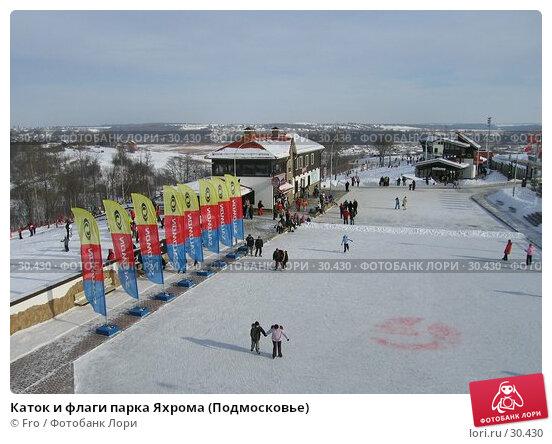Каток и флаги парка Яхрома (Подмосковье), фото № 30430, снято 19 февраля 2006 г. (c) Fro / Фотобанк Лори