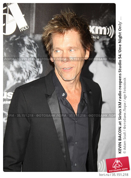 KEVIN BACON.at Sirius XM radio reopens Studio 54.'One Night Only' ... (2011 год). Редакционное фото, фотограф Adam Scull / age Fotostock / Фотобанк Лори