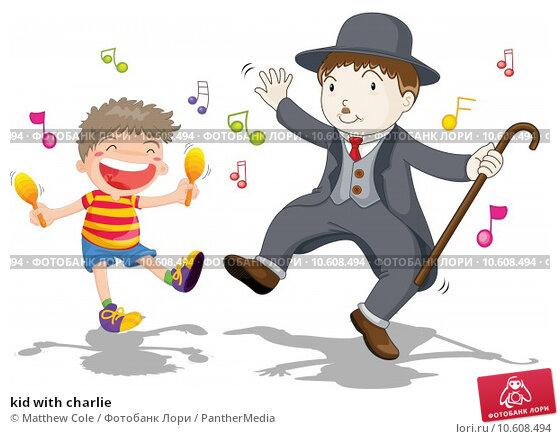 kid with charlie. Стоковая иллюстрация, иллюстратор Matthew Cole / PantherMedia / Фотобанк Лори