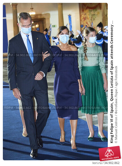 King Felipe VI of Spain, Queen Letizia of Spain attends Ceremony ... Редакционное фото, фотограф Manuel Cedron / age Fotostock / Фотобанк Лори