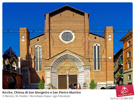 Kirche, Chiesa di San Giorgetto o San Pietro Martire. Стоковое фото, фотограф Bernd J. W. Fiedler / age Fotostock / Фотобанк Лори