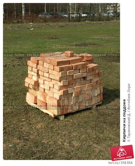 Кирпичи на поддоне, фото № 318554, снято 13 апреля 2008 г. (c) Тарановский Д. / Фотобанк Лори