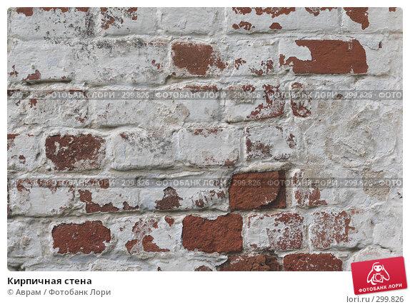 Кирпичная стена, фото № 299826, снято 10 мая 2008 г. (c) Аврам / Фотобанк Лори