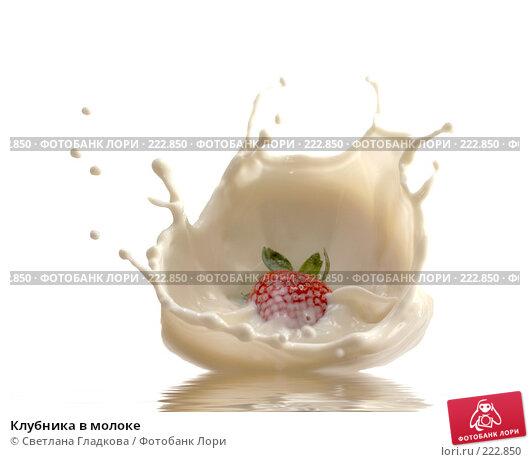 Клубника в молоке, фото № 222850, снято 23 декабря 2007 г. (c) Cветлана Гладкова / Фотобанк Лори
