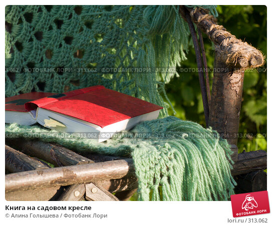 Книга на садовом кресле, эксклюзивное фото № 313062, снято 5 июня 2008 г. (c) Алина Голышева / Фотобанк Лори