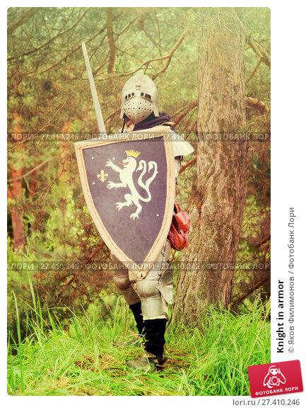 Купить «Knight in armor», фото № 27410246, снято 5 июня 2010 г. (c) Яков Филимонов / Фотобанк Лори