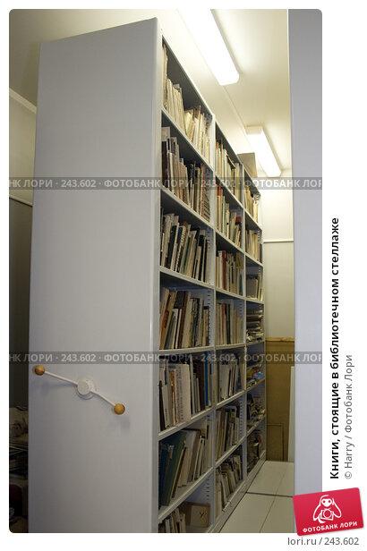 Книги, стоящие в библиотечном стеллаже, фото № 243602, снято 28 декабря 2007 г. (c) Harry / Фотобанк Лори