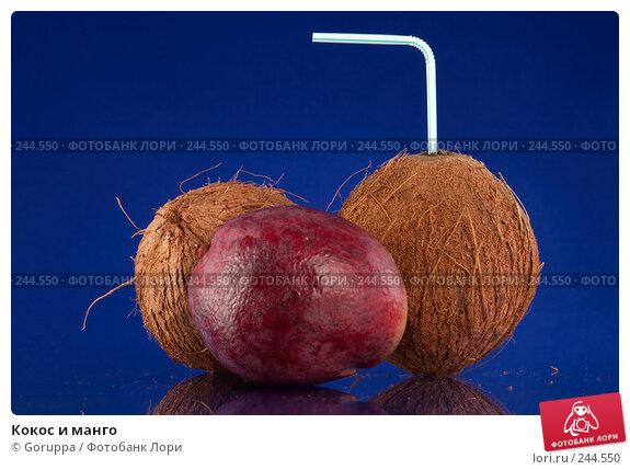 Купить «Кокос и манго», фото № 244550, снято 5 апреля 2008 г. (c) Goruppa / Фотобанк Лори
