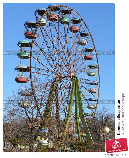Купить «Колесо обозрения», фото № 129214, снято 27 ноября 2007 г. (c) Галина Щеглова / Фотобанк Лори