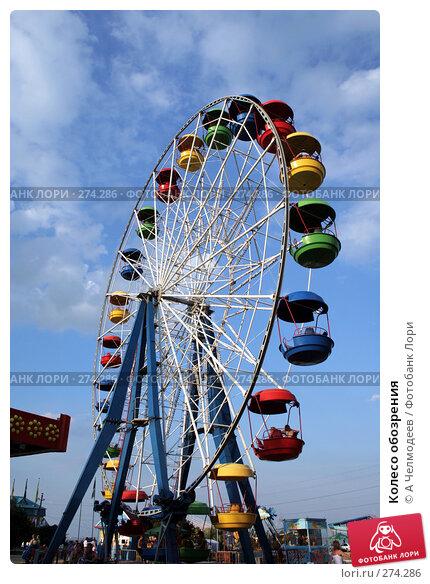 Колесо обозрения, фото № 274286, снято 30 июня 2007 г. (c) A Челмодеев / Фотобанк Лори