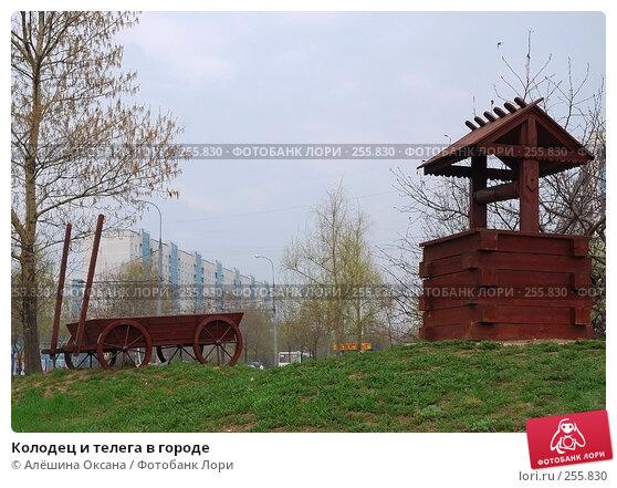 Колодец и телега в городе, эксклюзивное фото № 255830, снято 13 апреля 2008 г. (c) Алёшина Оксана / Фотобанк Лори