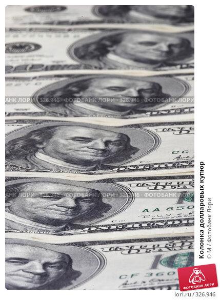 Купить «Колонка долларовых купюр», фото № 326946, снято 17 марта 2018 г. (c) М / Фотобанк Лори