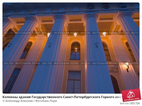Колонны здания Государственного Санкт-Петербургского Горного института, эксклюзивное фото № 203726, снято 12 февраля 2008 г. (c) Александр Алексеев / Фотобанк Лори