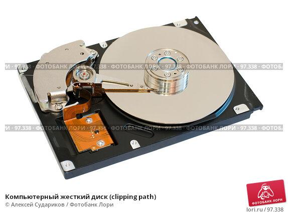 Купить «Компьютерный жесткий диск (clipping path)», фото № 97338, снято 15 сентября 2007 г. (c) Алексей Судариков / Фотобанк Лори