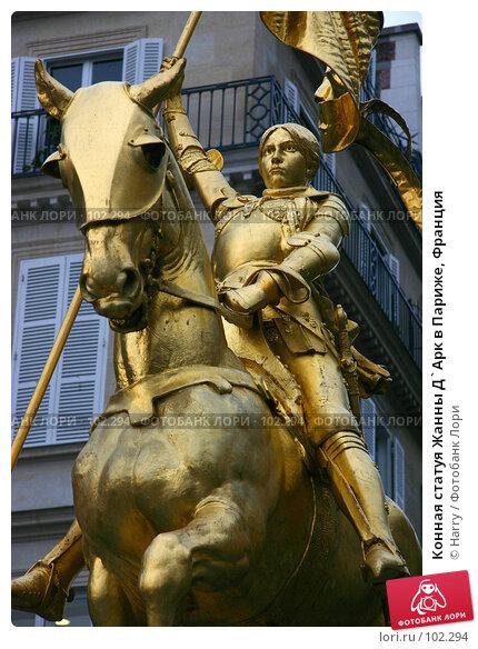Конная статуя Жанны Д`Арк в Париже, Франция, фото № 102294, снято 11 декабря 2016 г. (c) Harry / Фотобанк Лори